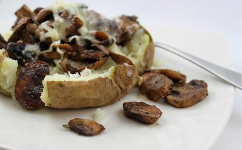 Balsamic Mushroom & White Cheddar Baked Potato