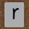 Tile Letter r