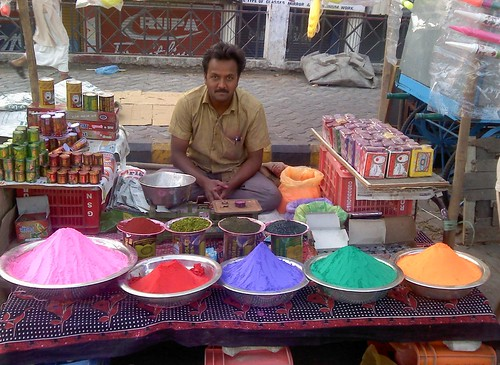 A color shop on this Holi morning.