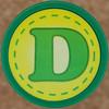 Rubber Stamp Letter D