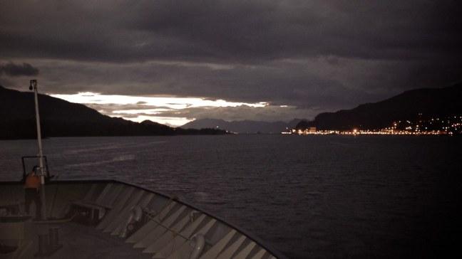 Evening lights of Ketchikan