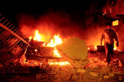 Hotel bombing in Baghdad