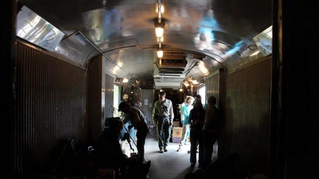 Cargo car on Hurricane Turn train