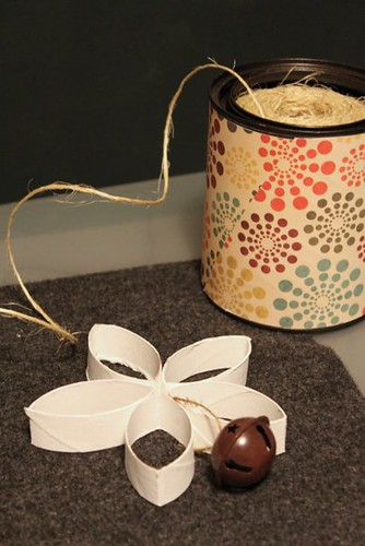 Cardboard Flower Holiday Ornament