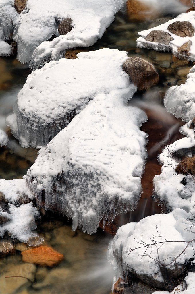 Rocks Water Ice Snow