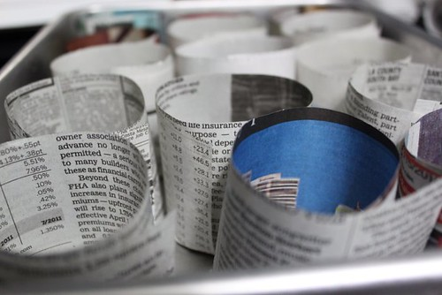 Creating Newspaper Pots