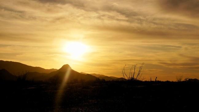 Sunset at Quartzsite