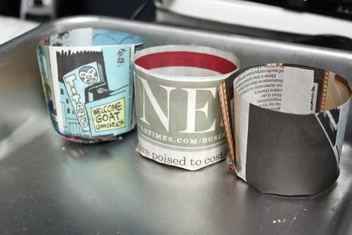Creating Newspaper Pots
