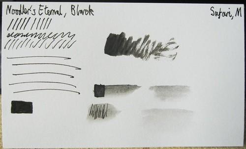 Sample - Noodler's Eternal Black on Index Card