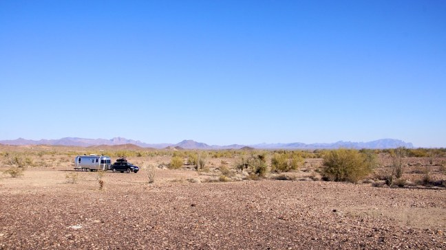 Boondocking at Quartzsite