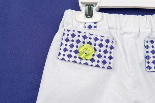 Convertible pants button detail