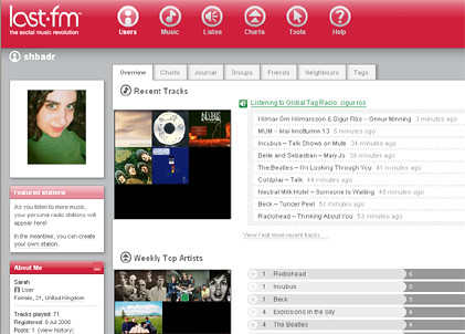 Last.fm interface