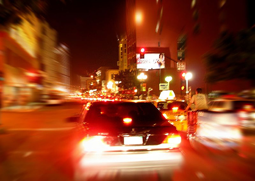 night life in motion