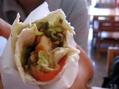 pork kebab roll