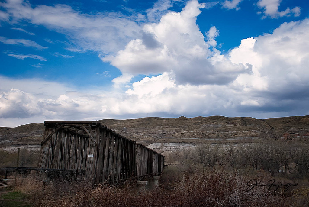 Old Bridge At East Coulee