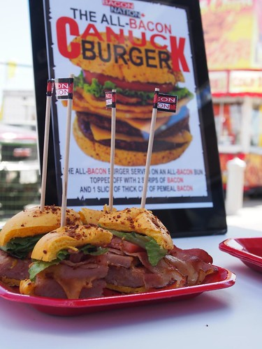 This Year's CNE Food - All-Bacon Canuck Burger