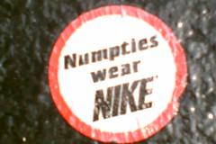 Numpties wear Nike
