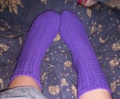 dimple socks finished