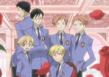 The guys of the Ouran High School Host Club