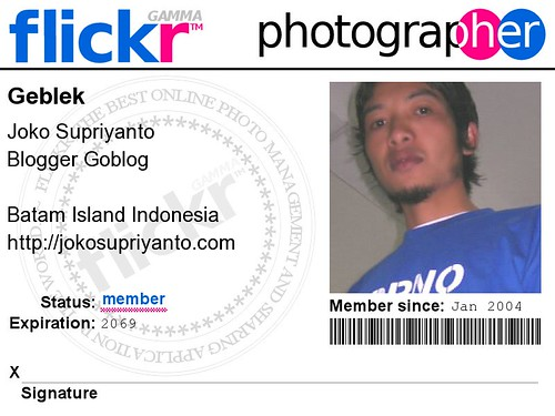 Geblek Flickr ID Card