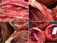 sari ribbon yarn montage