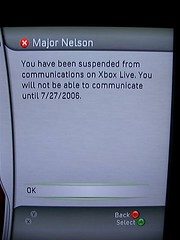 Major Nelson-Voice Banned