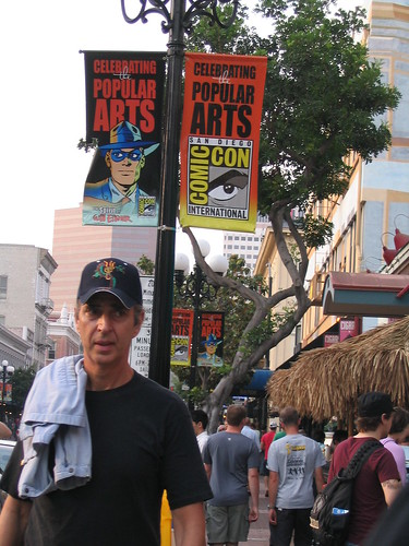 Comic Con banners in Gaslamp
