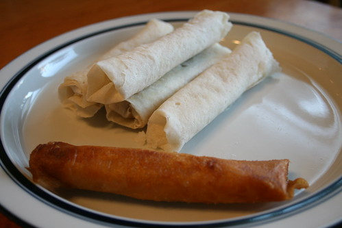 lumpia before and after frying