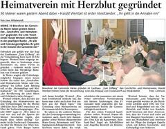 2006-08-26~Heimatverein mit Herzblut gegründet