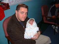 Me holding Maygen the day she was born