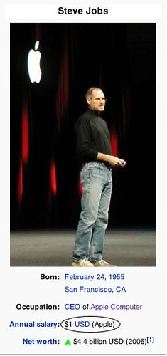 Sueldo de Steve Jobs