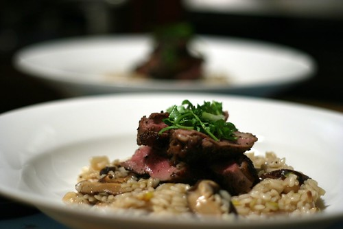 Shitake Mushroom & Almond Risotto with Star Anise Duck Breast