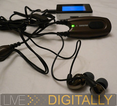 Shure E500 with iRiver Clix