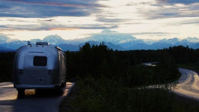 Watching Alaska Range appear