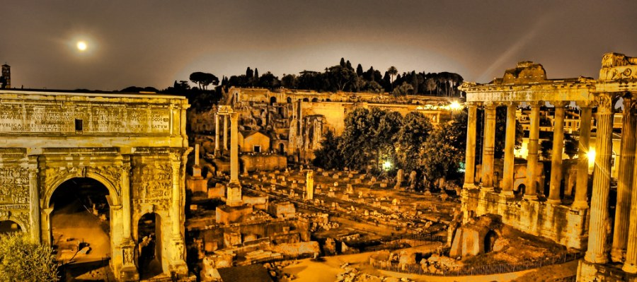The Glow of Capitoline Hill