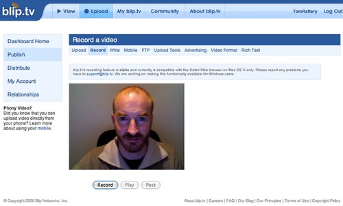 Blip.tv's browser based video recorder