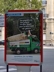 Pubblicità varie del municipio parigino
