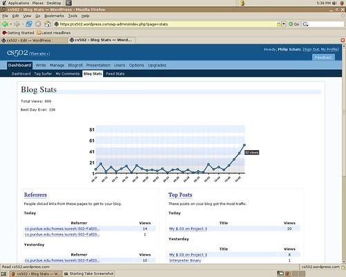 CS502 website screenshot