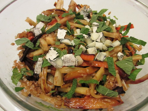 Honey and Harissa Farro Salad