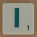 Scrabble Green Letter I