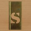 Brass Stencil shilling