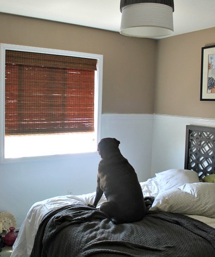 Spare Bedroom Update -  Bamboo Blinds