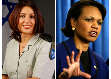 Miri Regev and Condoleeza Rice