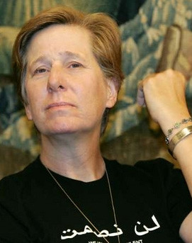 Peace activist Cindy Sheehan at a conference Vienna Austria 19 June 2006