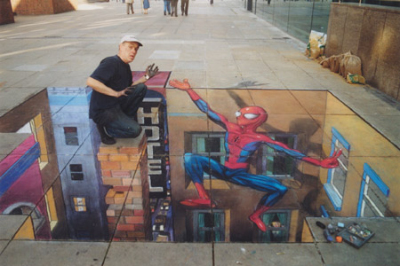 Julian Beever Spiderman