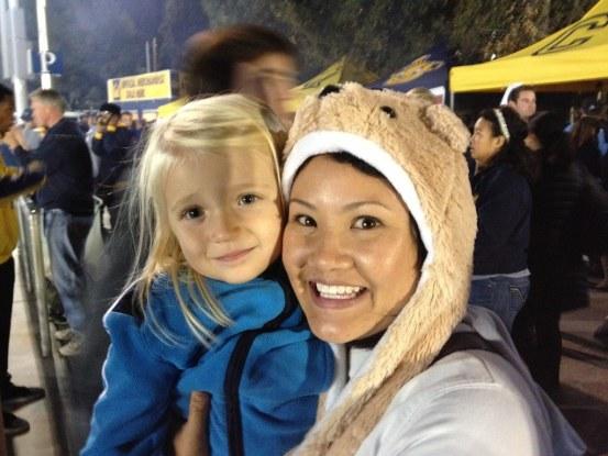 UCLA Football vs. Cal 2012 - bear hats
