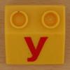 Educational Brick letter y