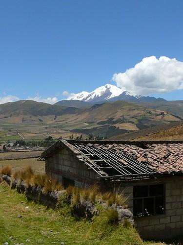 Beautiful view of Cayambe Volcano