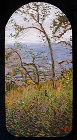 Painting Moose Island
