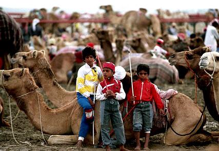 Camel jockeys in Dubai ca. 1980-1997